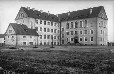 Pelgulinna algkool, tänane Ristiku põhikool vahetult pärast valmimist 1920. aastate lõpus.