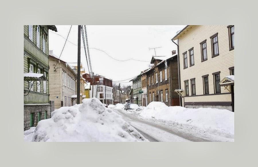 Talvine Õle tänav.