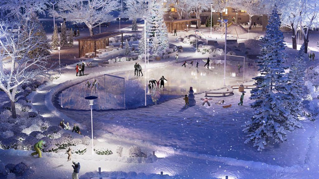 Aurora Park_talvine hoov_Endover