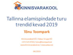 Tallinna elamispindade turu trendid