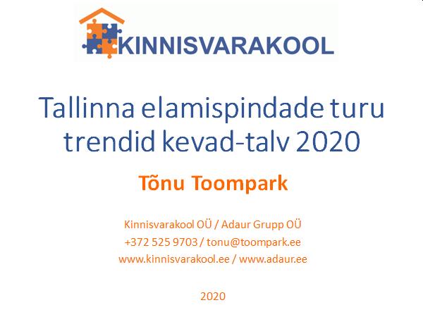 Tallinna elamispindade turu trendid kevad-talv 2020
