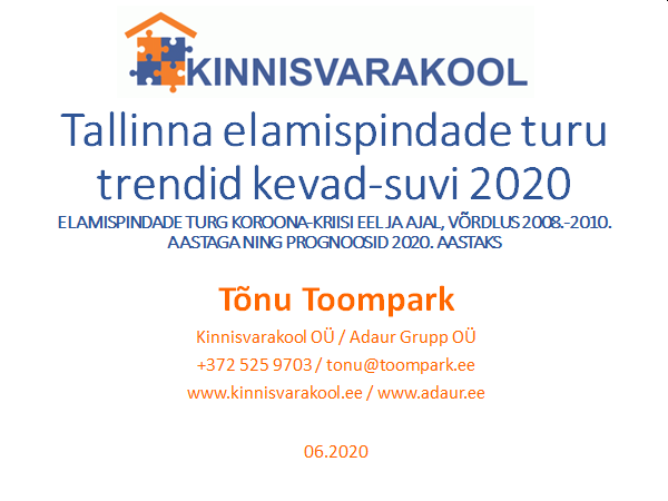 Tallinna elamispindade turu trendid kevad-suvi 2020